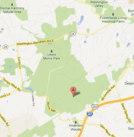 Morristown National Historical Park map