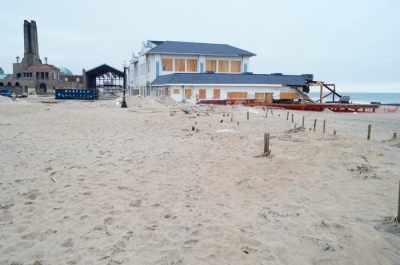 January 2013— After the boardwalk was destroyed by Sandy, the only access to the Casino from Ocean Grove was by walking across dunes.