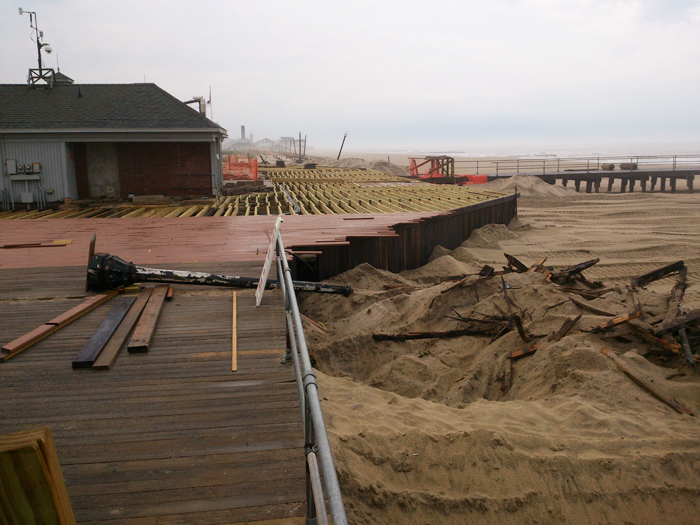Rebuilding the boardwalk